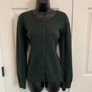 NWT green Gap cardigan sweater